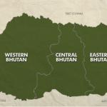 Bután, ciudades y distritos.